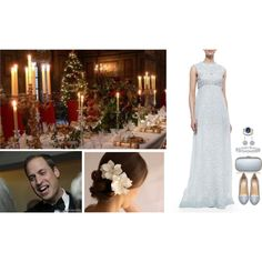 Christmas Eve Dinner With Both of Their Families by madeleine-duchessofcam on Polyvore featuring Tory Burch, Mulberry, Anya Hindmarch and Harry Winston