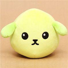 kawaii green Mameshiba bean dog plush toy