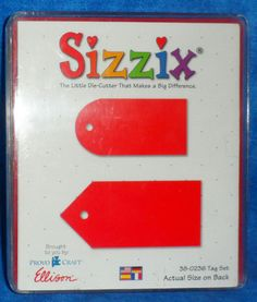 Sizzix TAG SET 38-0236  in original case  Scrapbooking      TE9 #Sizzix