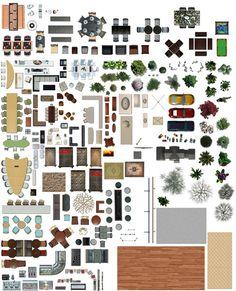 Texture psd plan view floor