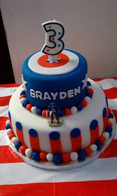 Captain America theme birthday cake