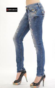 Cipo Baxx Womens Jeans CBW-0469 - CIPO & BAXX - AUSTRALIA
