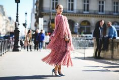 "The Best ""What IS She Wearing?"" Looks From Paris #refinery29  http://www.refinery29.com/2015/10/95202/paris-fashion-week-spring-2016-street-style-pictures#slide-58  Now that's some next-level fringe...."