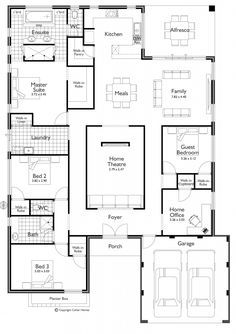 Flooring 4 Bedroom House Plans Open Living Bedroom Floor Plan Ranch House Plan By Max Fulbright . 30 Gorgeous Open Floor Plan Ideas How To Design Open . Home and Family The Plan, How To Plan, Dream House Plans, House Floor Plans, My Dream Home, Dream Houses, Cool House Plans, House Plans With Pool, Square House Plans
