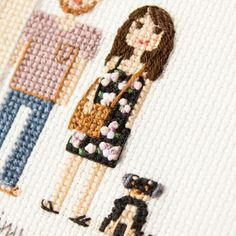 My favorite part of the next portrait I'm going to share! The dress and the dog.I like hair and purse too, of course.But not that much as this floral dress (French knots) and this four legged cutie.
