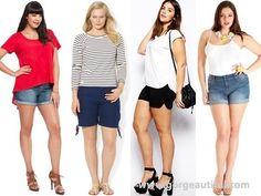 Shorts for Plus Size Apple Body Shape