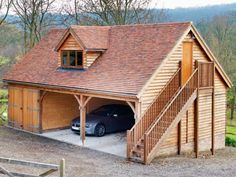 ascot timber buildings regarding wooden house with Double storey garage Wooden House with Double Storey Garage with Glass Doors Garage House, Carport Garage, Detached Garage, Garage Plans, Shed Plans, House Plans, Garage Closet, Garage Room, Garage Stairs