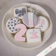 Ballerina cookies for a ballet birthday party <3