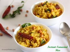 Instant Tamarind Rice or Instant Puli Sadam or Puliyodharai is a tangy rice preparation made with leftover rice and tamarind juice as the main ingredients.