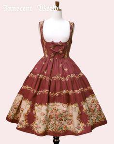 Innocent World ローズゴブランプリントコルセットジャンパースカート