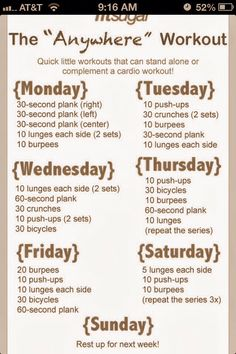 Tone & Tighten: Weekly Workout Plan - Tone and tighten your whole body with this amazing week of free workouts! Description from pinterest.com. I searched for this on bing.com/images