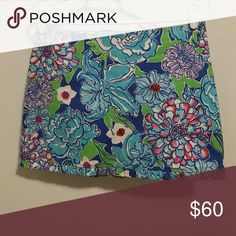 Lily Pulitzer skirt This floral patterned skirt from lily has never been worn. Lilly Pulitzer Skirts Mini