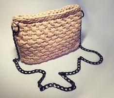 Amazing crochet cotton pink bag handmade zip street style Crochet handmade bag #crochet #bag #handmade #moderncrochet #crafty  #moderncrochet #crochetbag