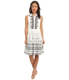 FRENCH CONNECTION FRENCH CONNECTION - SOLSTICE STITCH 71BNO (WINTER WHITE/BLACK) WOMEN'S DRESS. #frenchconnection #cloth #