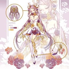 Adoptables by Rurucha on DeviantArt Fantasy Character Design, Character Design Inspiration, Character Art, Anime Art Girl, Manga Art, Anime Fantasy, Fantasy Art, 1 Gif, Anime Dress