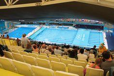 Aquatic Centre van binnen - Londen 2012