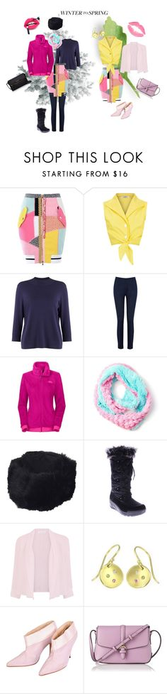 """Heralding spring"" by chinha ❤ liked on Polyvore featuring Moschino, Phase Eight, Oasis, L'Oréal Paris, The North Face, claire's, Surell, Spring Step, Fenn Wright Manson and Lilia Nash Jewellery"