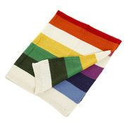 Anne-Claire Petit - Knitted Multi Stripe Throw - 80 x 100cm