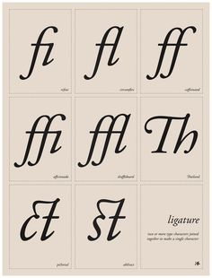 "Ligature Poster from Studiotwentysix2 24x36"" print for $55"