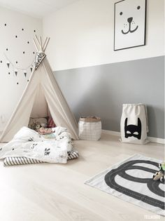 Un tipi pour une chambre enfant