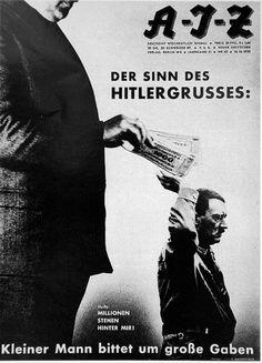 John Heartfield Millions stand behind me ! 1932 (Les millions sont derrière moi !) John Heartfield (Helmut Herzfeld) 1891 1968 Peintre et photographe introduit par George Grosz  dans le Dadaïsme. Pionnier du photomontage modenre 1933 fuit l'Allemagne y retourne en 1950