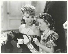 Greta Garbo and Cora Sue Collins
