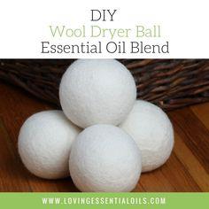 DIY Essential Oil Wool Dryer Ball Blend