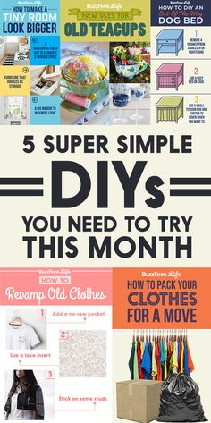 5 Super Simple DIYs That Will Upgrade Your Life