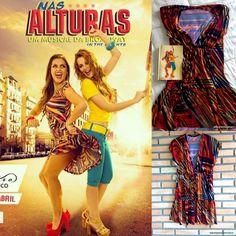 Vestido igual da atriz Renata Bras no musica Nas Alturas