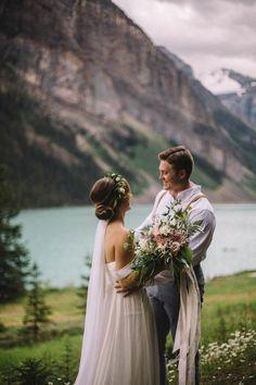 breathtaking lake elopement   image via: junebug weddings