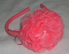 Tiara Flor Organza rosa