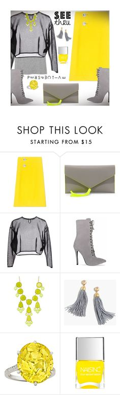 """""""A Clear P e r s p e c t i v e: See T h r u You"""" by nonniekiss ❤ liked on Polyvore featuring Marni, Neiman Marcus, Yves Saint Laurent, Natasha Accessories, J.Crew and Nails Inc."""