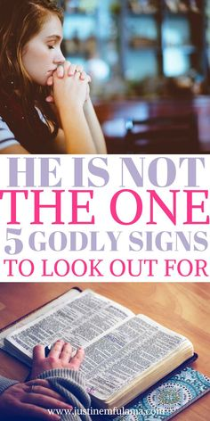 He is not the One. 5 Godly signs to look out for in a relationship that will keep you from getting heartbroken.  #love #God #Faith #christian #single #relationship