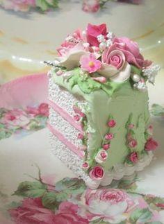 faux cake slice