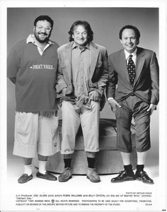 ROBIN WILLIAMS/BILLY CRYSTAL/ Producer JOEL SILVER/FATHERS DAY, 1997