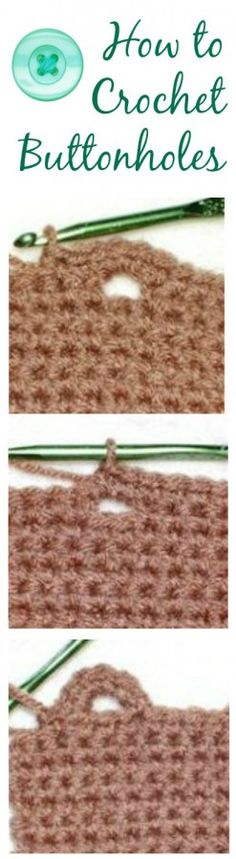 how to crochet buttonholes ❥Teresa Restegui http://www.pinterest.com/teretegui/❥
