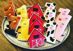 Swooning over this farm and #1 themed first birthday! #customcookies #sugarcookies #decoratedcookies #Omaha #Nebraska #sugarchicdesign