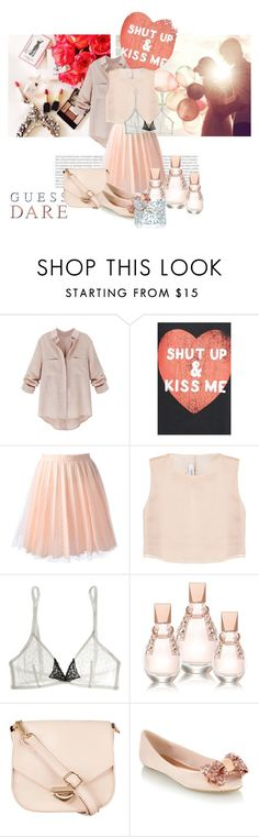 """""""blush-first-date"""" by cnle ❤ liked on Polyvore featuring NAJ, Starling, RED Valentino, Razan Alazzouni, Yasmine eslami, GUESS, ZALORA, Red Herring and Paloma Picasso"""