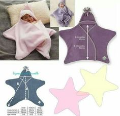 Sewing and learning: little baby star. Pattern and tutorial - Diy Kids Crafts Sewing For Kids, Baby Sewing, Diy For Kids, Baby Outfits, Baby Kind, Baby Love, Baby Patterns, Sewing Patterns, Knitting Patterns