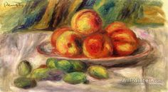 Pierre Auguste Renoir Peaches And Almonds oil painting reproductions for sale