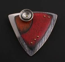 Image result for colored pencil on metal for jewelry
