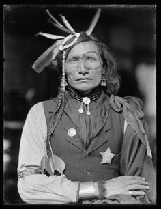 Iron White Man - Sioux - Probably a member of Buffalo Bill's Wild West Show - May have participated at the Battle of Little Big Horn. - By Käsebier, Gertrude, 1852-1934, photographer, ca. 1900.