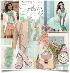 """Thinking of you and Smiling !"" by fantasy-rose ❤ liked on Polyvore"
