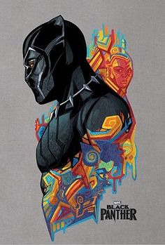 Black Panther poster prints by PopCulArt Black Panther Marvel, Film Black Panther, Black Panther Images, Black Panther Drawing, Black Panther Tattoo, Black Panther Hd Wallpaper, Black Panther Chadwick Boseman, Thanos Avengers, Marvel Drawings