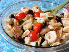 Summer Tortellini Pasta Salad from Once A Month Mom | OAMC from Once A Month Meals