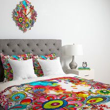 KESS InHouse Peacock Tail Duvet Cover Collection | Wayfair