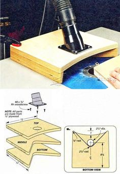 Router Table Dust Hood - Router Tips, Jigs and Fixtures | WoodArchivist.com