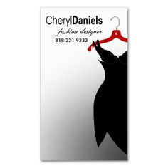 """""""Little Black Dress"""" Fashion Designer, Stylist Business Cards. I love this design! It is available for customization or ready to buy as is. All you need is to add your business info to this template then place the order. It will ship within 24 hours. Just click the image to make your own!"""
