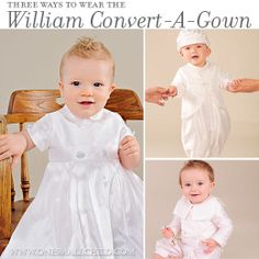 Looking for a silk Baptism gown for your little gentleman? Our William Convert-A-Gown offers a tradition look with the flexibility of a modern romper! Take a look!