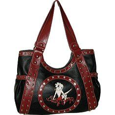 Gotta see this beautiful Betty Boop Signature Solution Women's Betty Boop Bag BP1015 Top notch Zip Handbag